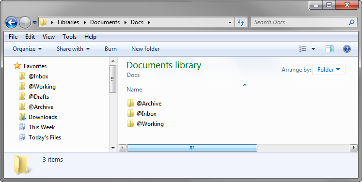 File System For Life: Docs Folder