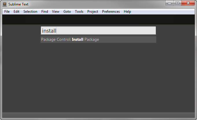 Package Control: Install